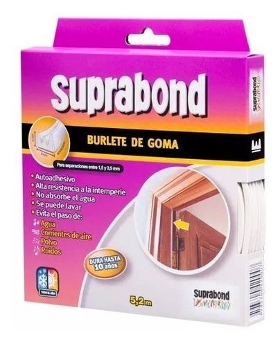 burlete goma perfil e suprabond 5x9x4 blanco o marron