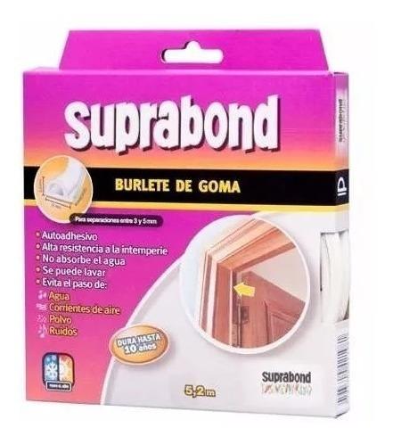 burlete goma puerta adhesivo perfil p suprabond