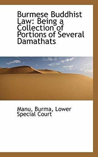 burmese buddhist law : manu