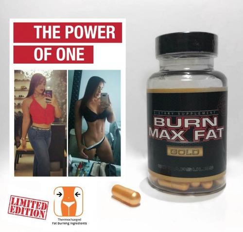 burn max fat gold 100% original quemador de grasa baja peso