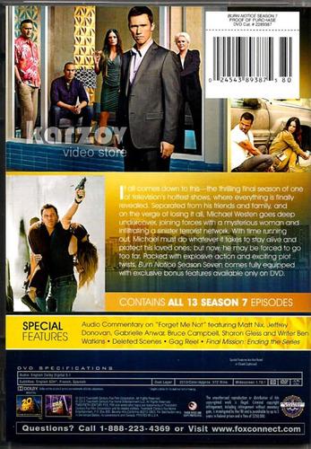 burn notice operacion miami temporada 7 siete importada dvd