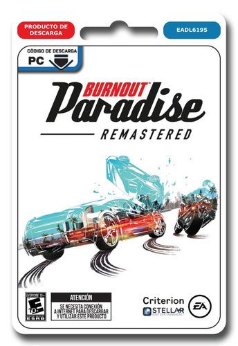 burnout paradise remastered juego pc origin envio inmediato