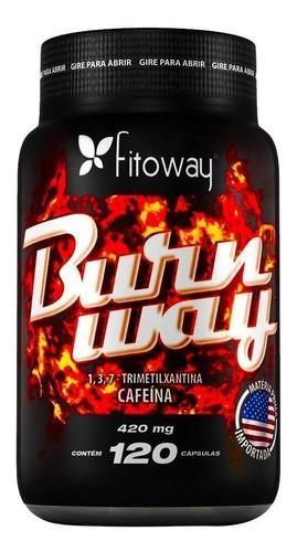 burnway - cafeína 420mg - fitoway - 120 cápsulas sem juros!