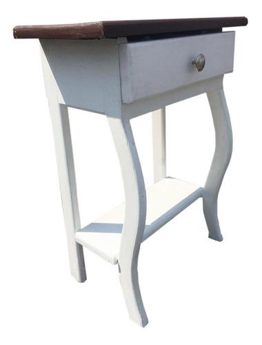 buro con cajon mesa coqueta madera vintage  60x46cm