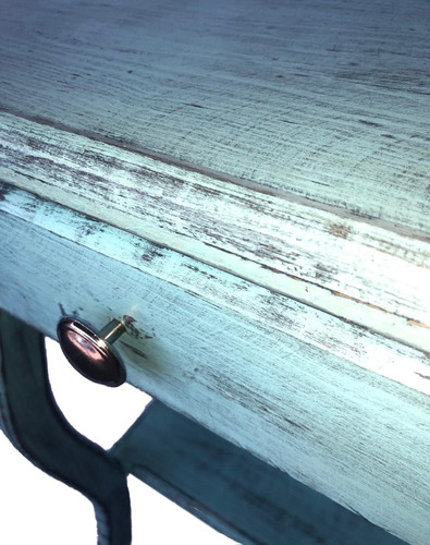 buro con cajon mesa coqueta vintage madera pino 60x46cm