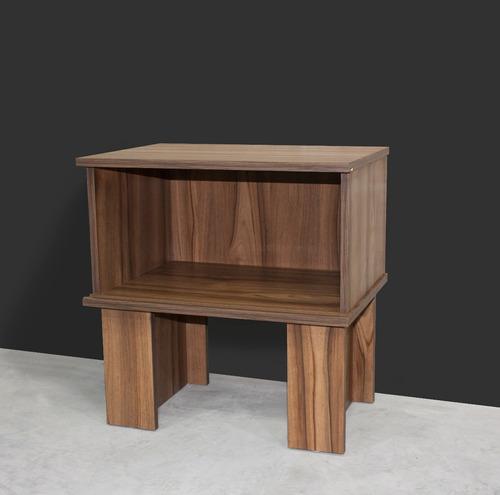 buro con puerta nogal recamaras modernas muebles cajonera en