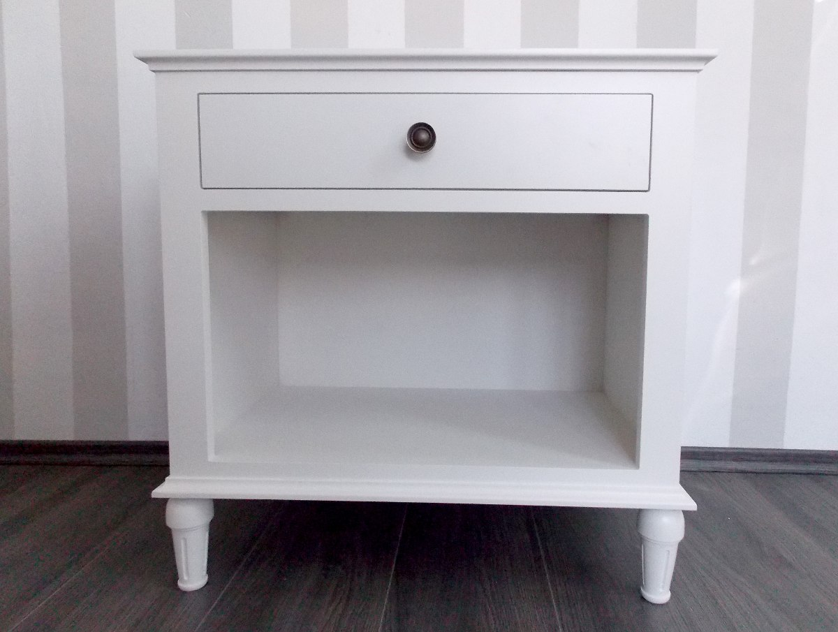 Muebles Tipo Ikea : Buro vintage mesa de noche color blanco antiguo