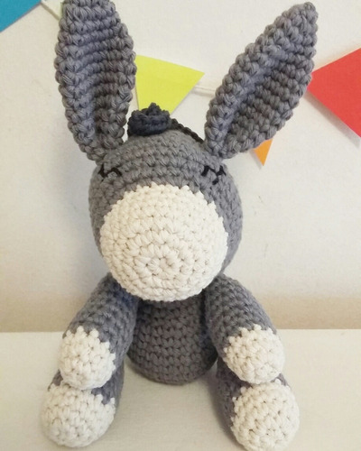 burro amigurumi muñecos tejidos crochet