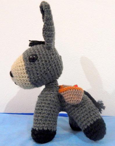 burro amigurumis muñeco crochet deco