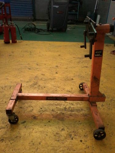 burro o soporte giratorio para armar motores.