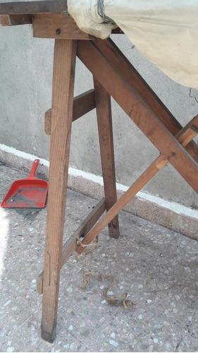 burrobde madera antigua para planchar