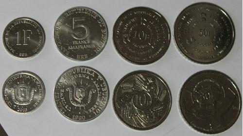 burundi juego de 4 monedas sin circular serie