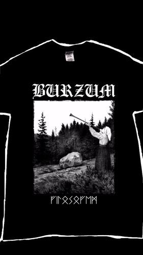 burzum playera black metal varg vikernes serigrafia