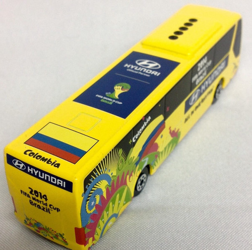 bus a escala 1:60 hyundai colombia mundial copa 2014 brasil