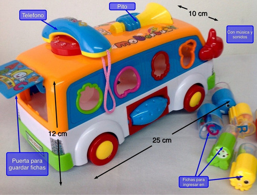 bus de actividades didactico para estimulación temprana 3 a+