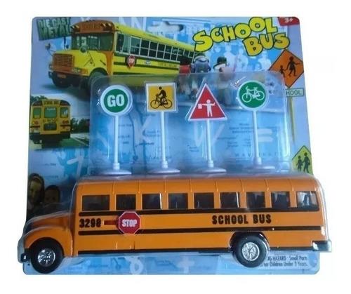 bus escolar juguete con accesorios