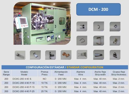 busch dcm 200 four slide troqueladora y prensa múltiple.