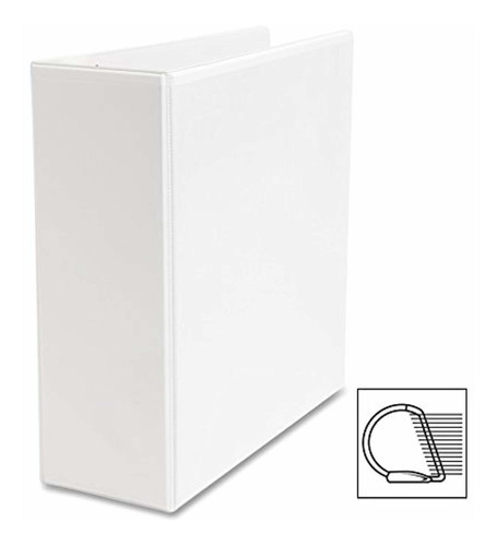 business source 4-inch slant ring view binder