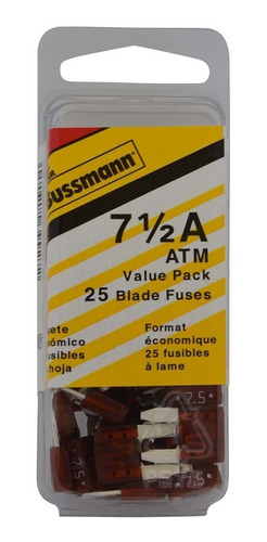 bussmann (vp / atm-7-1 / 2-rp) brown 7-1 / 2 amp fast acting