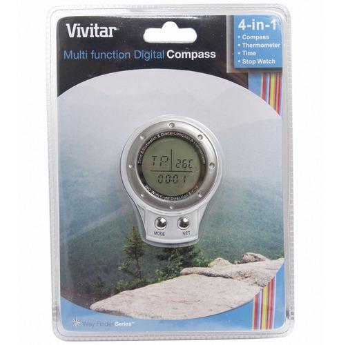 bússola 4 em 1 vivitar relógio termômetro e cronômetro