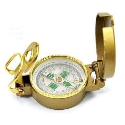 bússola de bolso com visada lente aumento compass escala
