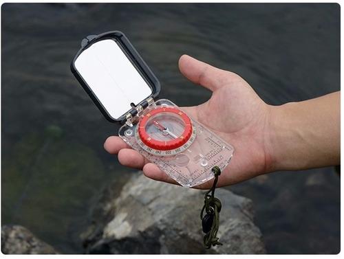 bússola naturehike luminosa com espelho à prova d' água