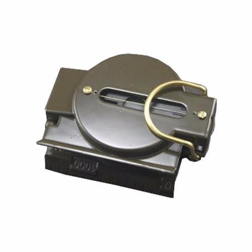 bussola portatil estilo militar metal lupa visada antenas
