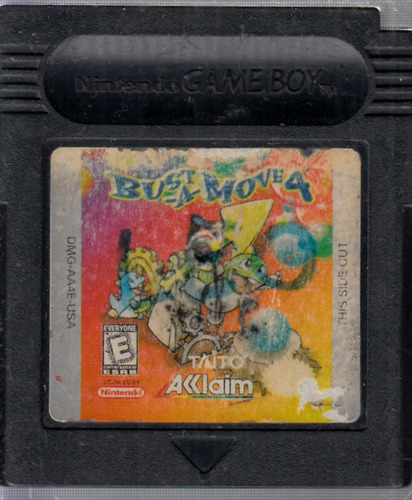 bust-a-move 4 video juego de game boy