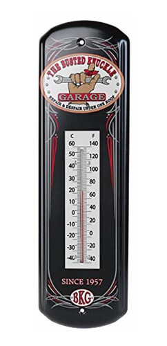 busted knuckle garage bkg-70091 tin thermometer