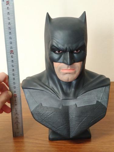 busto batman unico. ben affleck 28cm. pintado a mano!