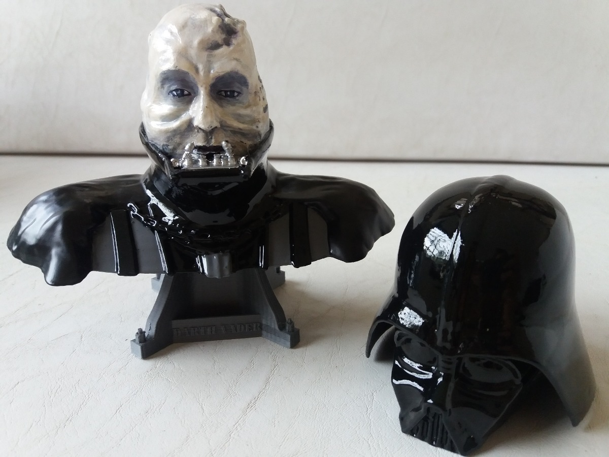 Busto Darth Vader Con Casco Extraíble - $ 900,00 en Mercado Libre