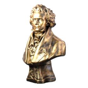 Busto De Beethoven - Bronze - 31 Cm X 20 Cm