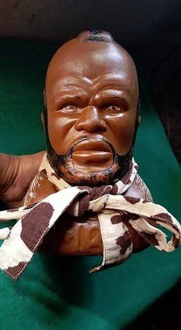 busto de plastico de mr.t mario baracus gratis envio