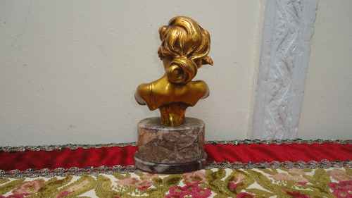 busto frances petit bronce firmado antiguo impecable vealo