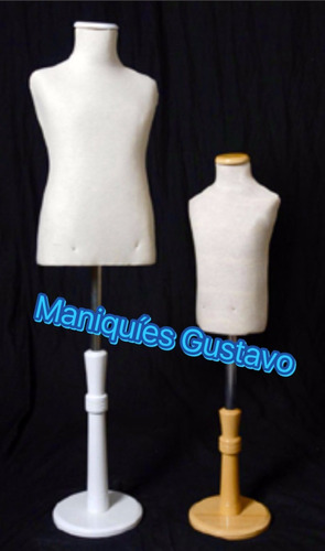 bustos niño maniquies. color natural base de madera tapita