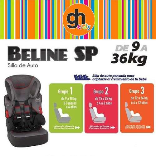 Butaca de auto para ni o booster beline de 9 a 36 kg en gh for Butaca para auto bebe