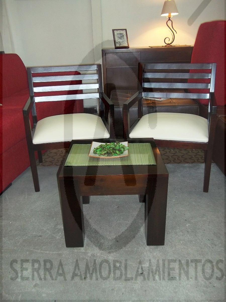 butaca de madera sillon silla comedor living poltrona