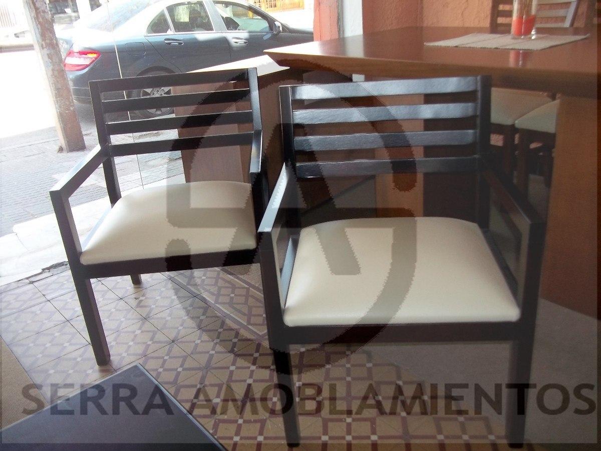 Butaca de madera sillon silla comedor living poltrona for Sillas butacas comedor