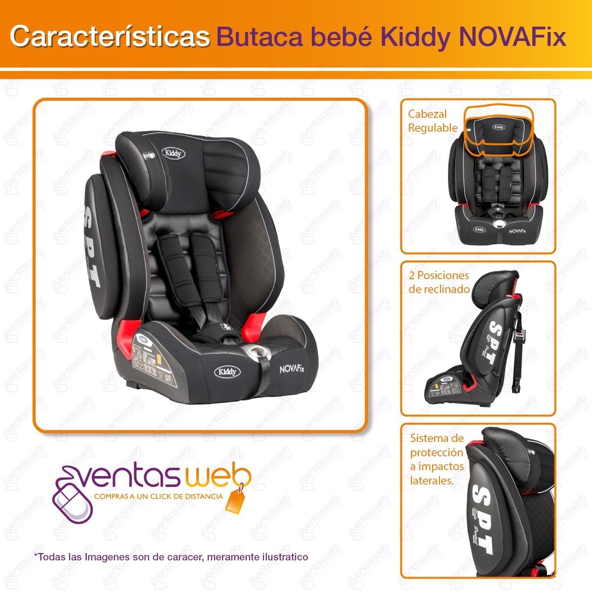 7e20577cd Butaca Silla Auto Bebe Kiddy 9-36 Kg Novafix Isofix - $ 8.199,00 en ...