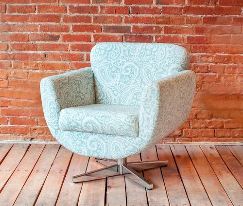 butaca / sofá 1 cuerpo - tapizada - base giratoria