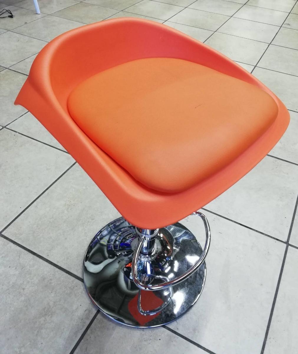Butaco bar silla para barra americana graduable naranja for Sillas para barra americana