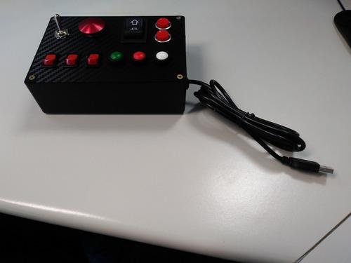 button box caseiro usb - pc simracing
