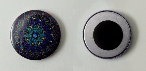 button imã de geladeira 25mm (100 buttons desmontados)