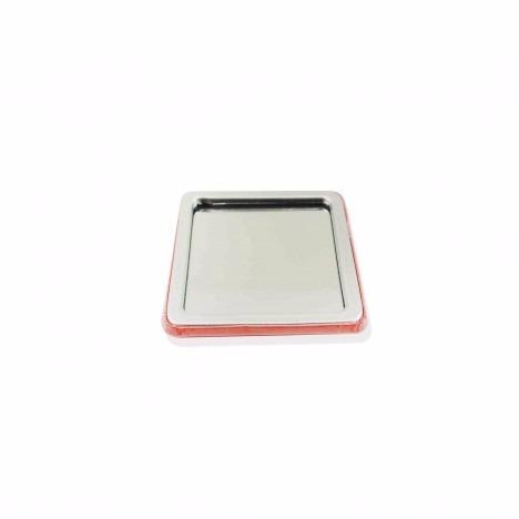 button quadrado espelho 50x50mm 100 unidades
