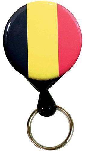 buttonsmith bélgica bandera de lujo retráctil pesado deber