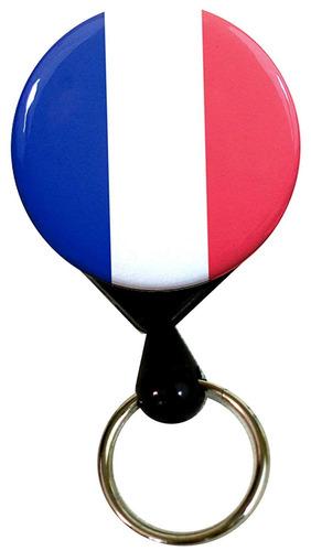 buttonsmith francia bandera de lujo retráctil pesado deber