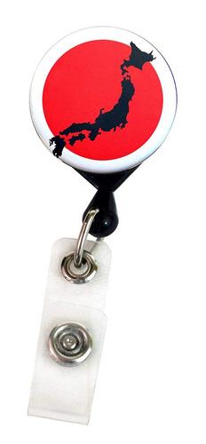 buttonsmith japón bandera de lujo retráctil placa carrete