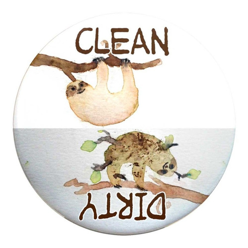 buttonsmith limpio-sucio del lavaplatos (perezosos) - made i