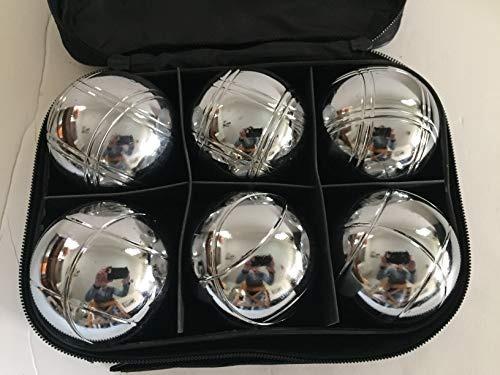buybocceballs juego de petanca de metal de 73 mm con 6 bolas