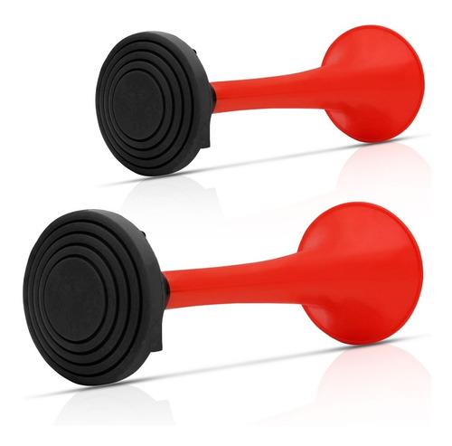 buzina 2 cornetas automotiva a ar vermelhas